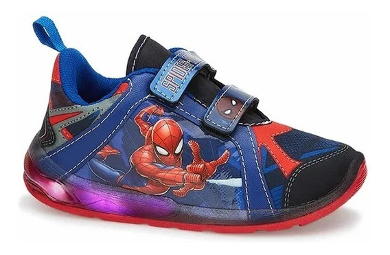 Oferta! Lindos Tenis Con Luces Spiderman Originales