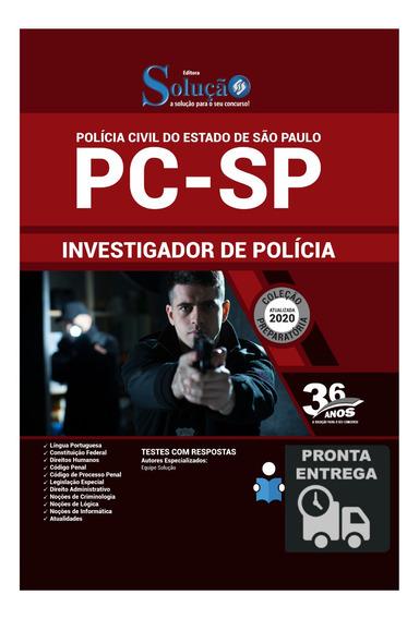 Apostila Investigador De Polícia Pc-sp Livro Solução