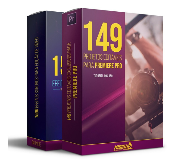 149 Projetos Editáveis Para Premiere Pro I Full Hd + Bônus