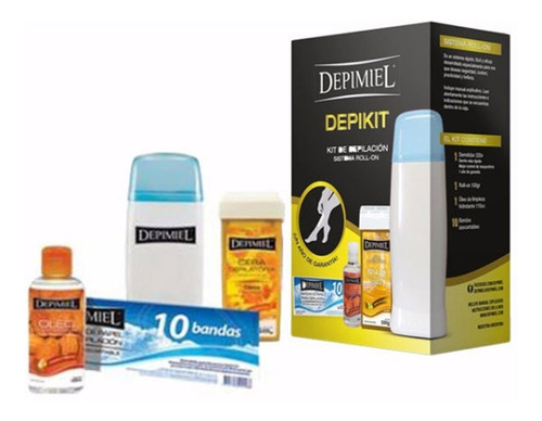 Imagen 1 de 5 de Depikit - Kit De Depilación Sistema Descartable Depimiel