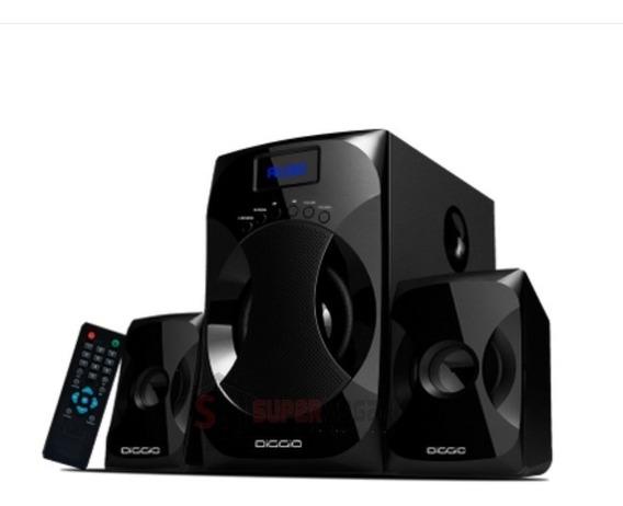 Cine En Casa Equipo Diggio Bluetooth Usb Fm Sistema De Sonid