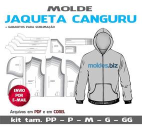 Moldes Jaqueta Canguru - Blusa Moletom Com Ziper