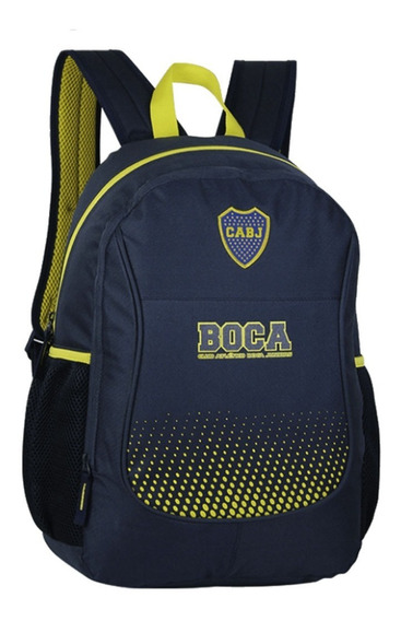 Mochila Boca Juniors Oficial 17,5 Pulgadas Nuevo Modelo