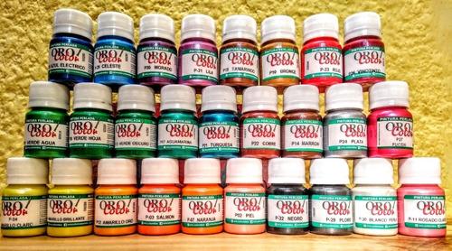 Imagen 1 de 10 de Kit De 27 Pinturas Perladas Orocolor + Obsequio
