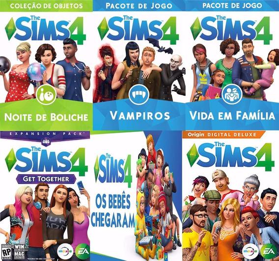 The Sims 4 Pc Completo Todas Dlc´s Frete Grátis Pelo Correio