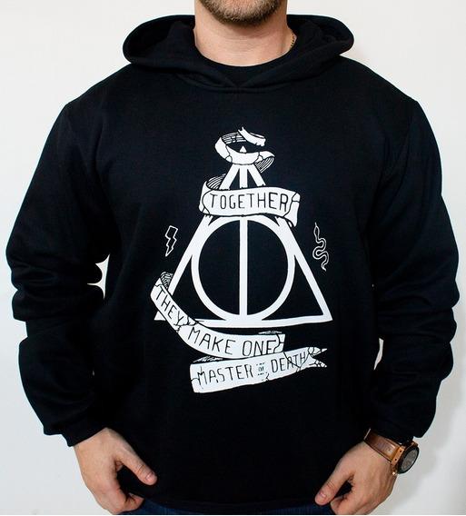 Moletom Canguru Reliquias Da Morte Harry Potter Hogwarts