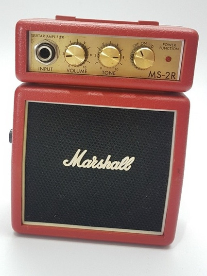 Mini Amplificador Marshall Ms-2r Seminovo Ms2r Amp Guitarra