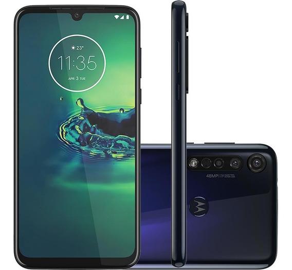 Celular Motorola G8 Plus Xt2019 64gb Câmera Tripla Azul