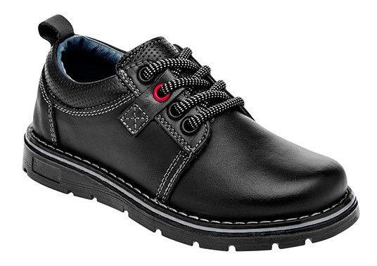 Abc Zapatitos Sneaker Dep Escolar Piel Niño Negro N79598 Udt
