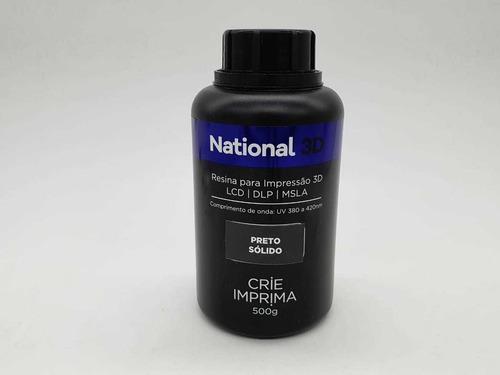 Imagem 1 de 3 de Resina  - Preto Sólido - Sólidos - National 3d - 500 Ml