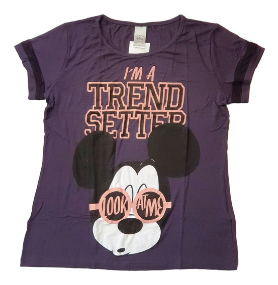Camiseta Blusa Feminina Roupas Disney Mickey Cativa