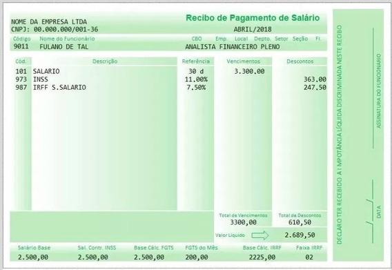 Holerite Modelo Contra-cheque Editável No Excel Arquivo