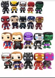 Muñecos Funko Pop Avengers X 1unidades Spiderman Hulk Capit