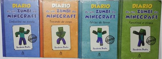 Diário De Um Zumbi Do Minecraft 4 Vol 2 Ao 5 Frete Grátis