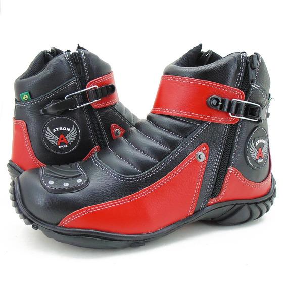 Bota Motociclista Atron Shoes Couro 271 Cores Unissex