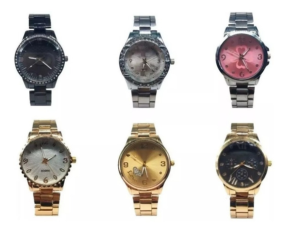 Kit 10 Relógios Feminino De Aço Atacado Revenda Frete Grátis