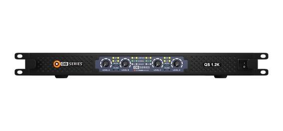 Amplificador Db Series Qs 1.2k Slim 1200w Rms 4ch Bivolt Nfe