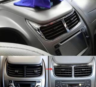 Moldura Cromada Salida Central Aire Chevrolet Sail