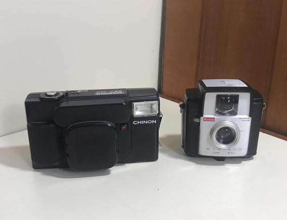 2 Máquina Fotográficas Antigas Kodak Rio 400 E Chinon