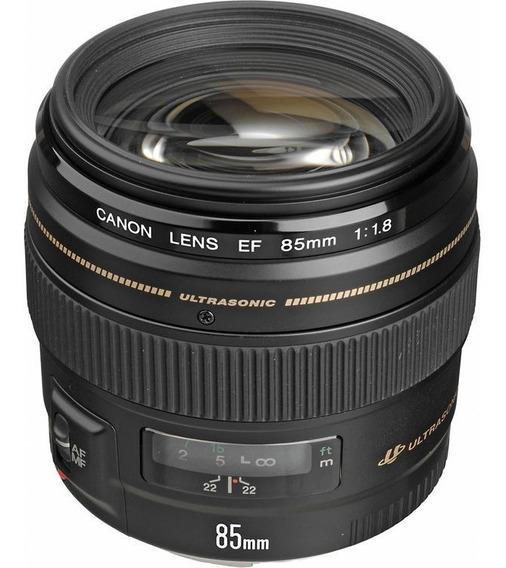 Lente Objetiva Canon Ef 85mm F/1.8 Usm Garantia Nfe