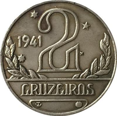 1 Magnífica Réplica De Cr$ 2,00 Anos 1941 Incrivel E Rara