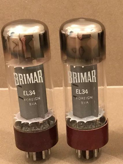 Válvula Brimar El34 Nos Base Marrom 1960 - 1 Par