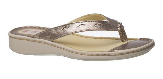 Chinelo Feminino 226 Em Couro Metalic Doctor Shoes