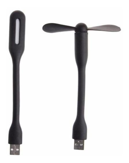 Mini Luz Led Abajour E Ventilador Para Notebook Usb Flexível