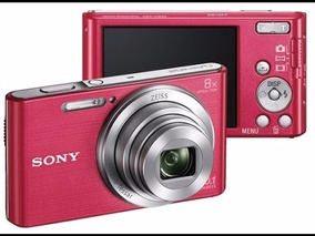 Câmera Digital Sony Cyber-shot 16.0 Mp Dsc-w800 Rosa