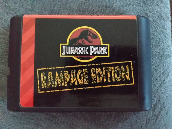 Cartucho Mega Drive Jurassic Park Rampage Edition Paralelo