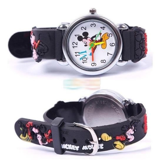 Relógio Mickey Infantil Criança Pulseira 3d - Frete 12,99