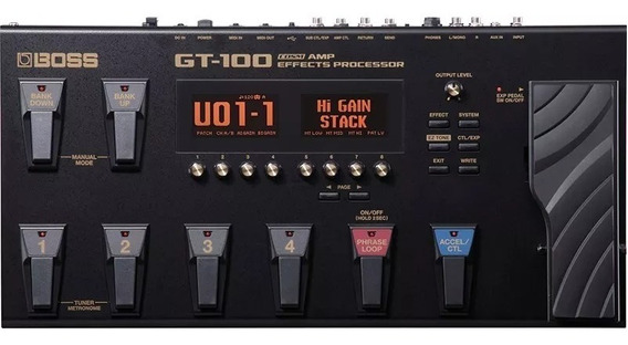 Pedaleira Boss Gt-100 P/ Guitarra Multiefeitos C/fonte Gt100