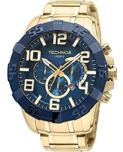 Relógio Technos Legacy Cronog Dourado Ref. Os20iq