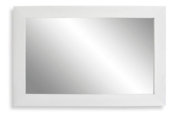 Espejo Home Blanco 39x59 Oferta Moderno Rectangular Reflejar