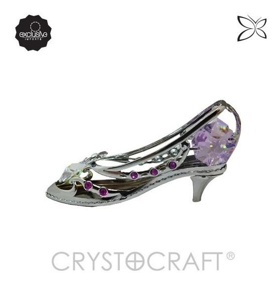 Sapato De Salto C/cristais Swarovski-15 Anos Debutante Baile
