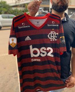 Camisa Flamengo Home Vermelha Libertadores Envio24h