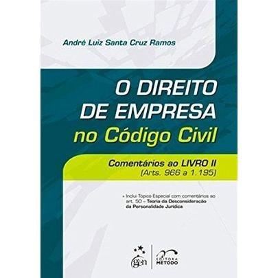 O Direito De Empresa No Código Civil - Comentários Ao Livr