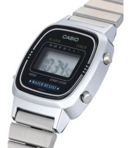 Relógio Casio Feminino Retro Vintage La670wa-1df Mini + Cx