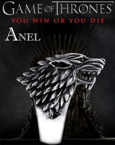 Anel Game Of Thrones Casa Stark Lobo Aço Disponível Pronto!