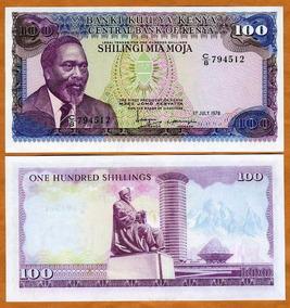 Quênia 100 Shillings 1978 P. 18 Fe Cédula - Tchequito