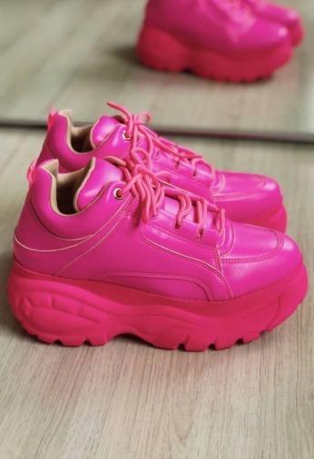 Ténis Buffalo Pink Feminino Casual + Frete Grátis