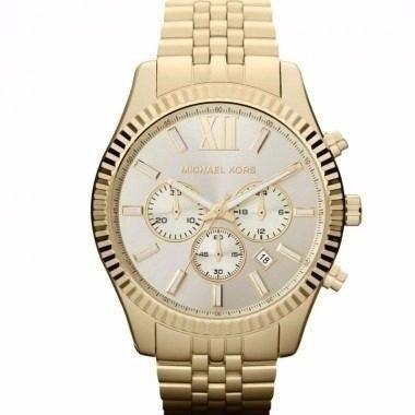 Relógio Michael Kors Omk8281/z Original Dourado Promoção