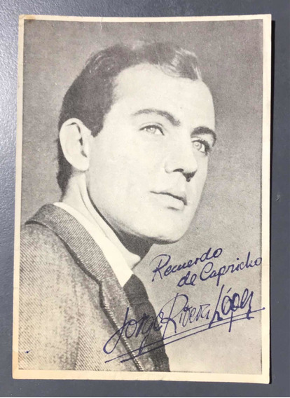 Postal Jorge Rivera Lopez Recuerdo Revista Capricho