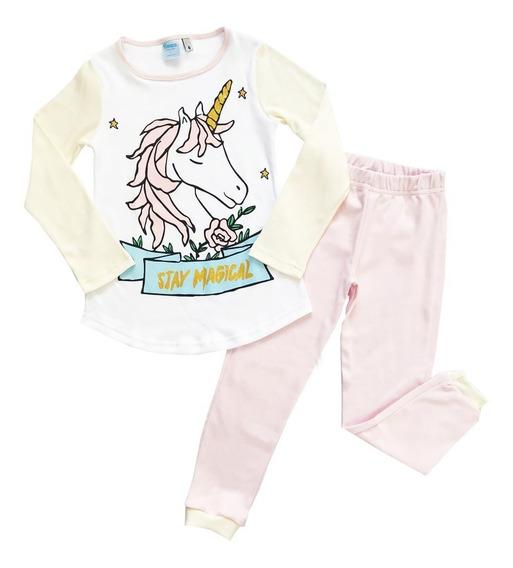Pijama Invierno Niña Unicornio Boneco