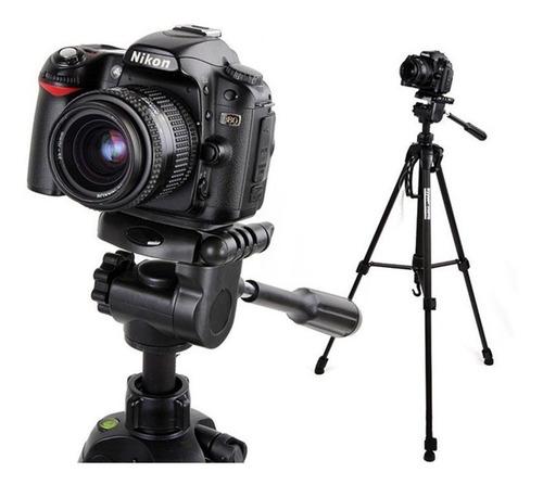 Imagem 1 de 8 de Tripé Telescópico Profissional Preto 1,80m Sony Nikon Cannon
