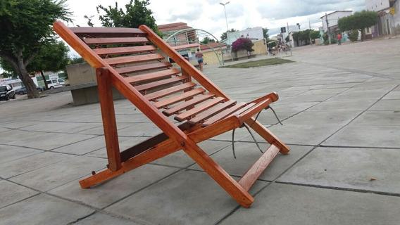 Cadeira De Madeira Dobrável Espreguiçadeira