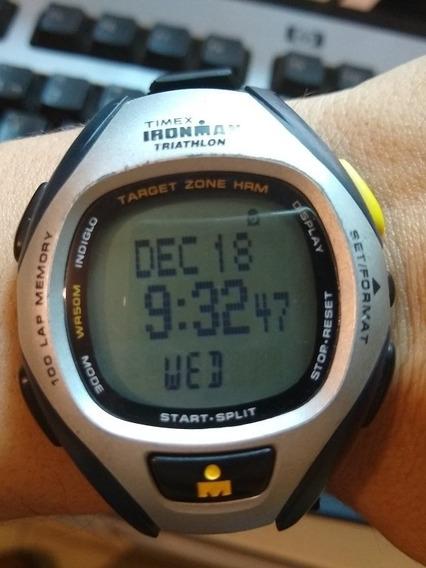 Relógio Timex Ironman Triathlon 100 Laps Tela Grande