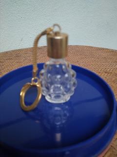 Porta Perfume - Refil - Chaveiro Banhado A Ouro - Década 60