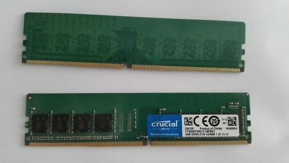 Memória Ram 4gb Ddr4 Crucial