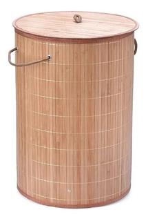 Cesto Canasto Laundry Organizador Plegable Ropa Sucia Bambu Con Tapa Oferta